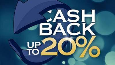 Up to 20% daily Vegas cashback